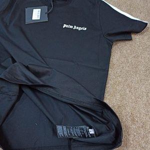 Palm Angels Shirts - Palm Angels Black T-Shirt NWT